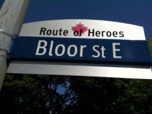 Bloor Street Sign
