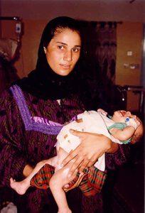 Kurdish mother with child