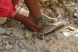 removing sandals