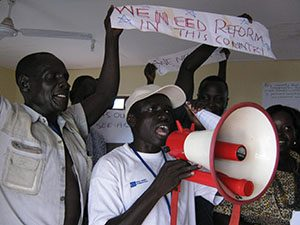 South Sudan Train the Trainer Protest practice