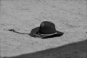 Black hat on ground