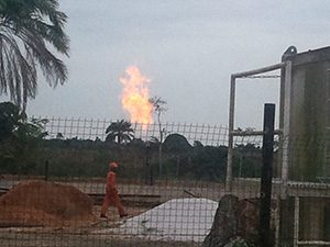 Congo Tar Sands Gas Flare