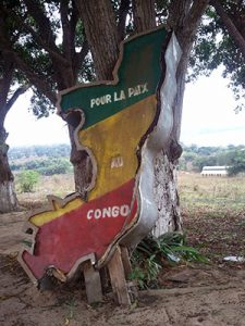 Colorful sign in the Congo