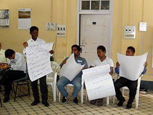 workshop participants share outcomes