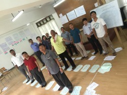 Participants in nonviolence training in Naga