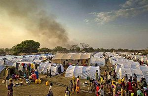 Refugee camp for South Sudanese in Uganda
