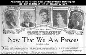 An article from the Persons Case, 1930