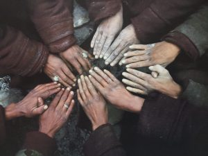 hands joining in a circle